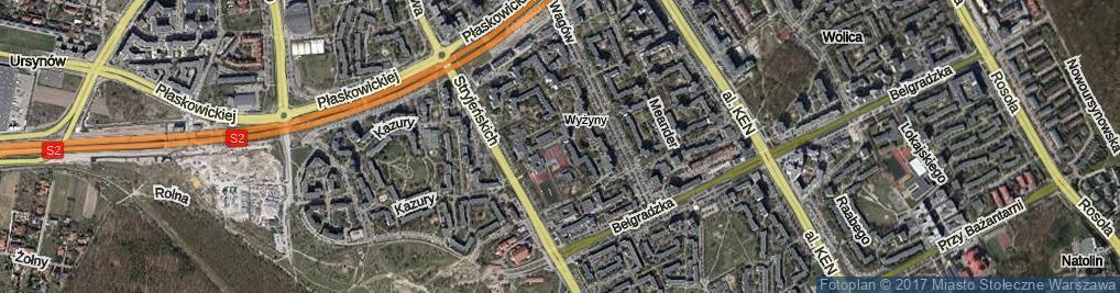 Zdjęcie satelitarne Na Uboczu ul.