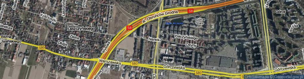 Zdjęcie satelitarne Narwik ul.