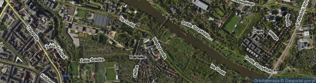 Zdjęcie satelitarne Na Grobli