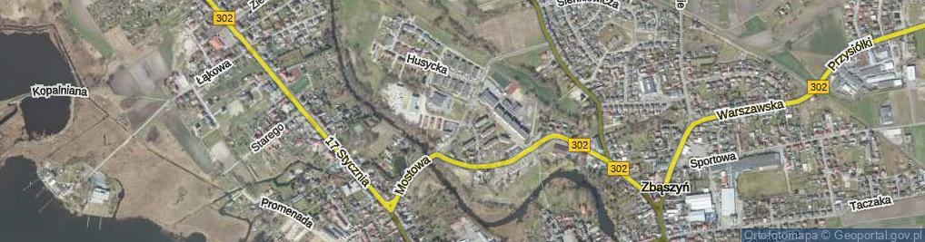 Zdjęcie satelitarne Na Kępie