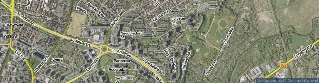 Zdjęcie satelitarne Niepodległości