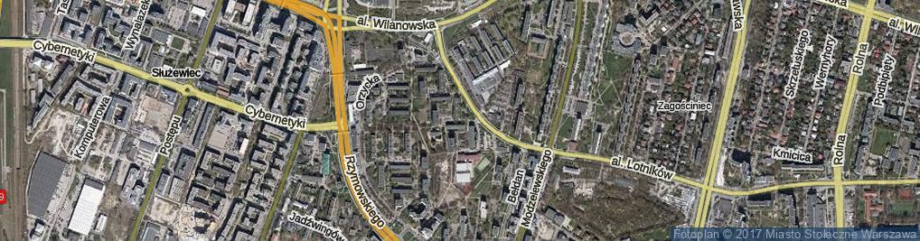 Zdjęcie satelitarne Niegocińska