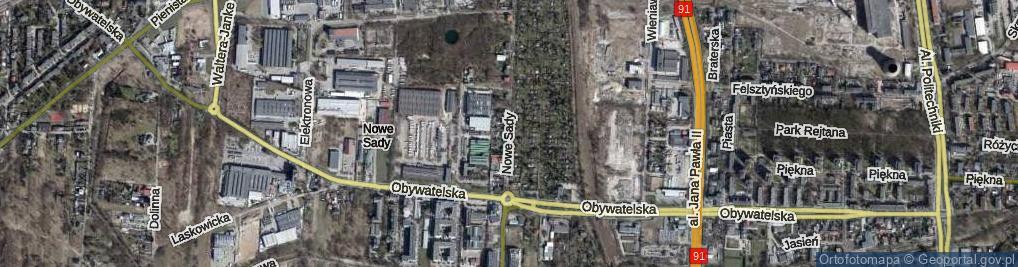 Zdjęcie satelitarne Nowe Sady ul.