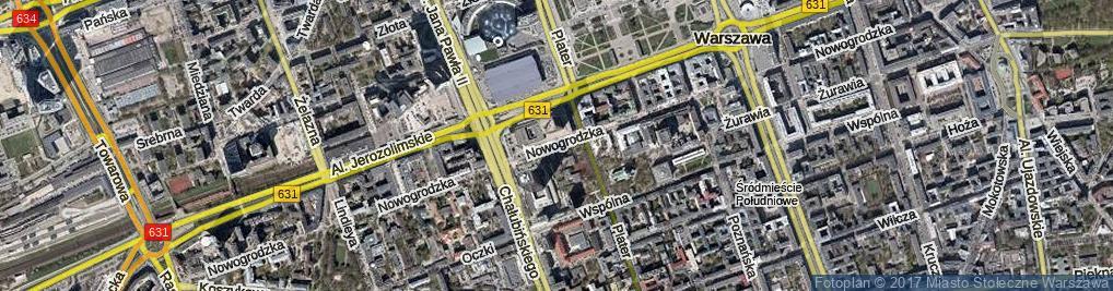 Zdjęcie satelitarne Nowogrodzka