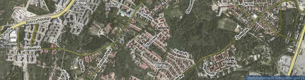 Zdjęcie satelitarne Obozowa