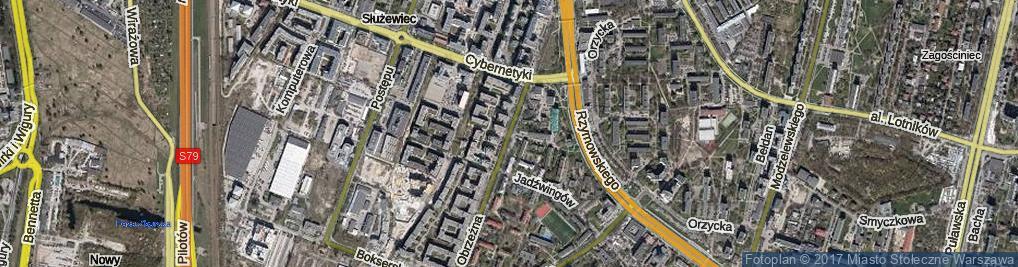 Zdjęcie satelitarne Obrzeżna