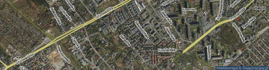 Zdjęcie satelitarne Odolanowska