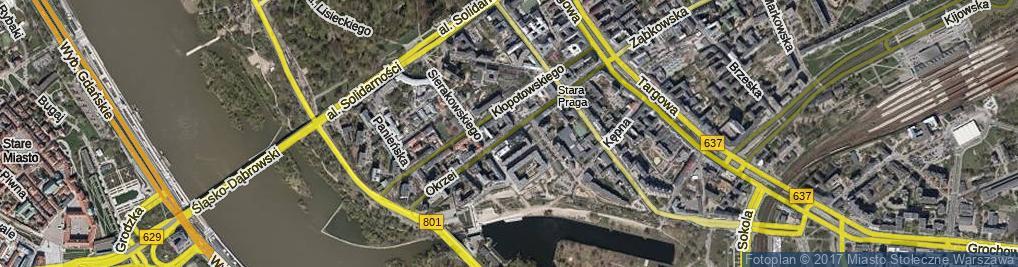 Zdjęcie satelitarne Okrzei Stefana