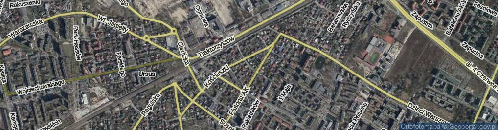 Zdjęcie satelitarne Opieńskiego Henryka