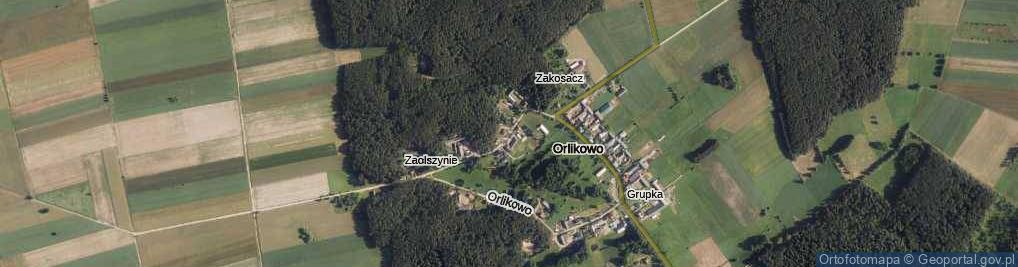 Zdjęcie satelitarne Orlikowo ul.