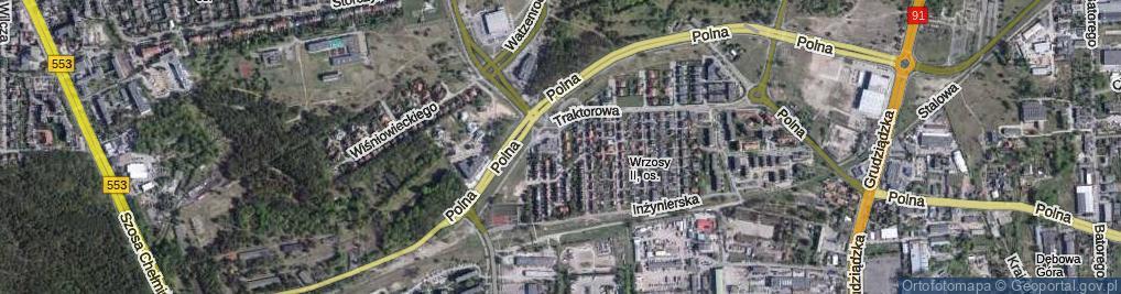 Zdjęcie satelitarne Orląt Lwowskich