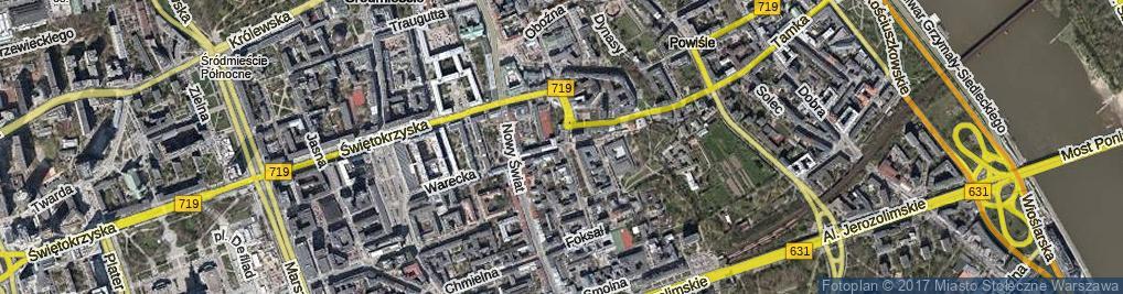 Zdjęcie satelitarne Ordynacka ul.