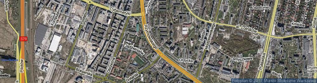 Zdjęcie satelitarne Orzycka