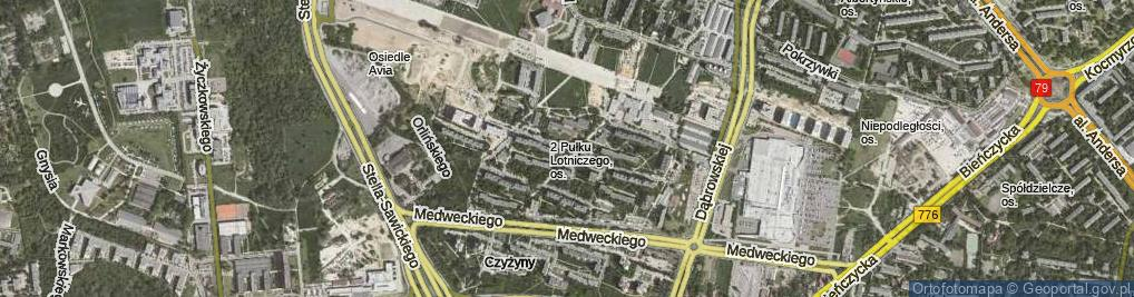 Zdjęcie satelitarne Osiedle 2 Pułku Lotniczego