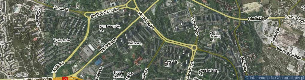 Zdjęcie satelitarne Osiedle Kalinowe