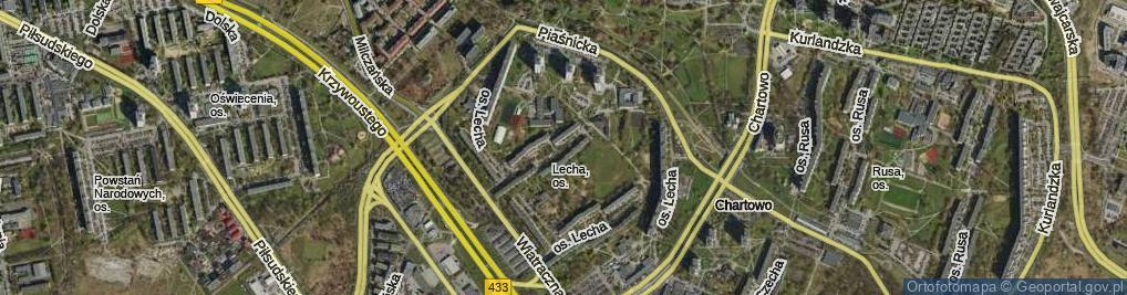 Zdjęcie satelitarne Osiedle Lecha os.