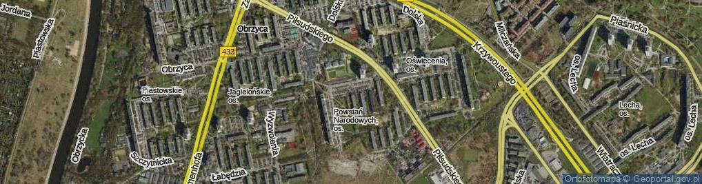 Zdjęcie satelitarne Osiedle Powstań Narodowych
