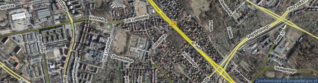 Zdjęcie satelitarne Ostrawicka ul.
