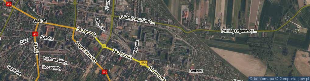 Zdjęcie satelitarne Osiedle Wyszyńskiego Stefana, ks. kard. os.