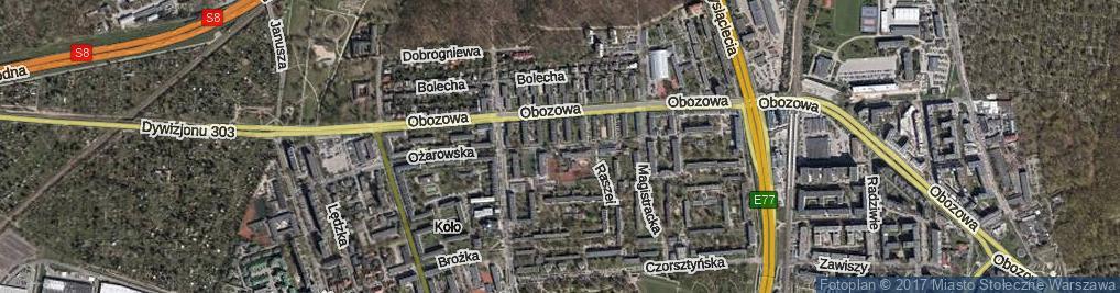 Zdjęcie satelitarne Ożarowska