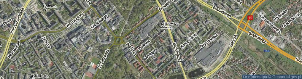 Zdjęcie satelitarne Parkowa