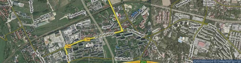 Zdjęcie satelitarne Pachońskiego Henryka ul.