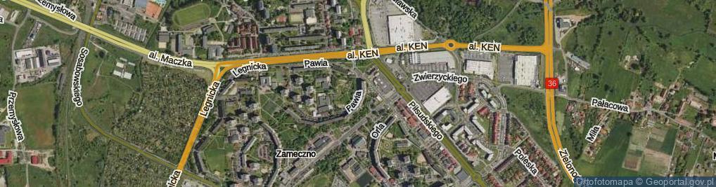 Zdjęcie satelitarne Pawia