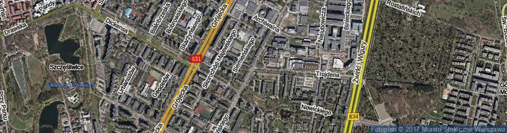 Zdjęcie satelitarne Pawińskiego Adolfa