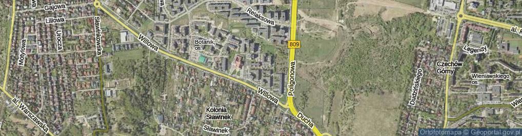 Zdjęcie satelitarne Pergolowa ul.