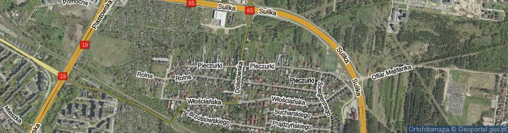 Zdjęcie satelitarne Pieczurki