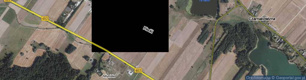 Zdjęcie satelitarne Piecki ul.