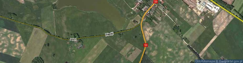 Zdjęcie satelitarne Piecki