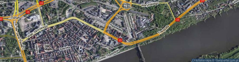 Zdjęcie satelitarne Piastowska