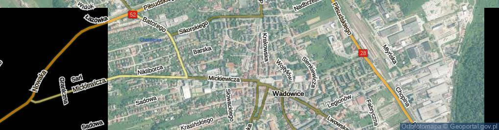 Zdjęcie satelitarne Piaskowa