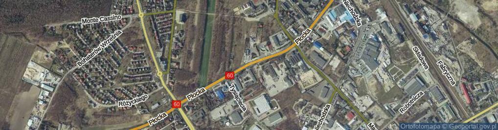 Zdjęcie satelitarne Płocka