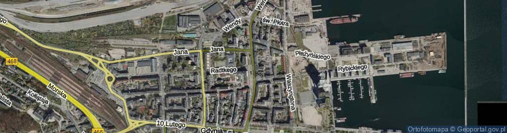 Zdjęcie satelitarne Plac Kaszubski