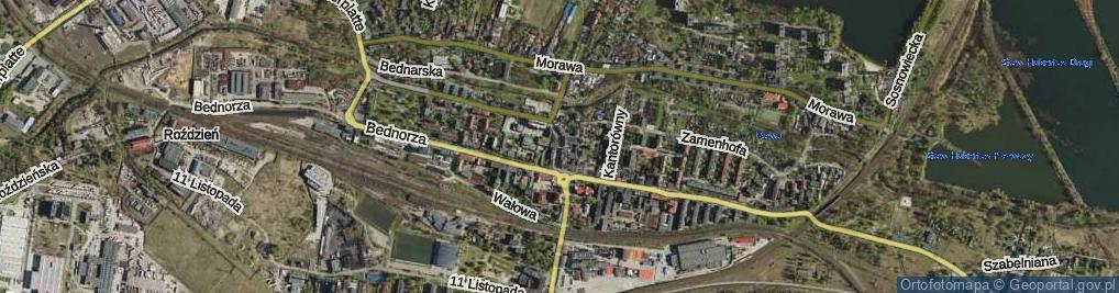 Zdjęcie satelitarne Plac Powstańców Śląskich
