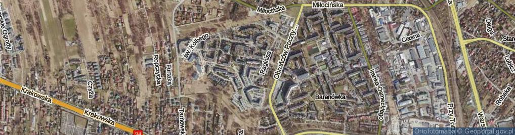 Zdjęcie satelitarne Plac Jana Pawła II