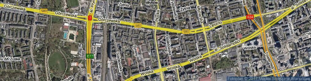 Zdjęcie satelitarne Płocka ul.