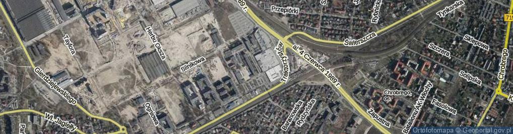 Zdjęcie satelitarne Plac Czerwca 1976 Roku