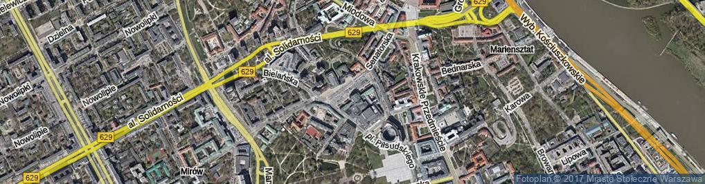 Zdjęcie satelitarne Plac Teatralny