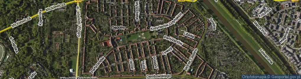 Zdjęcie satelitarne Plac Partyzantów