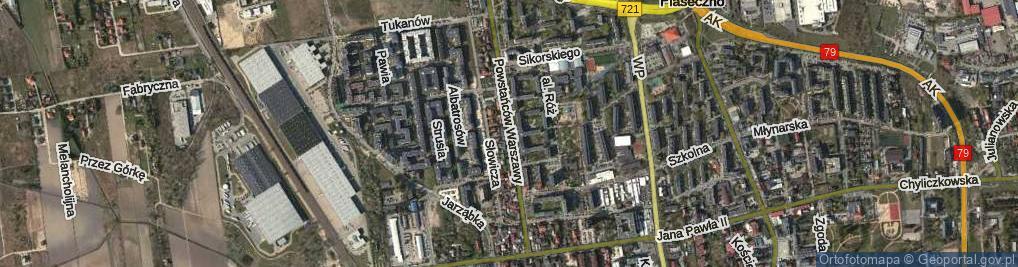 Zdjęcie satelitarne Powstańców Warszawy