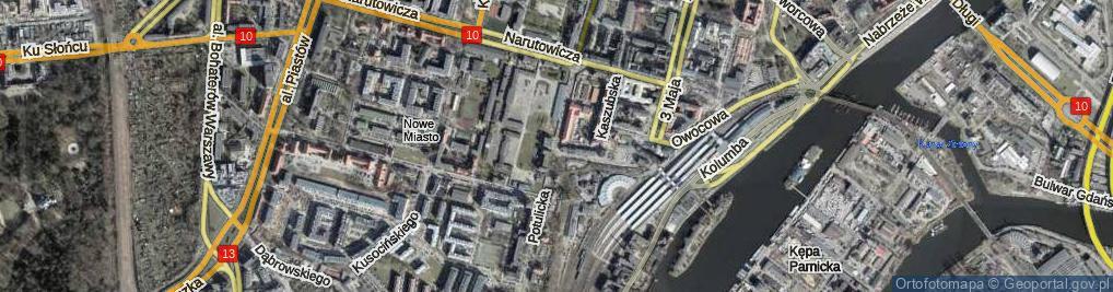 Zdjęcie satelitarne Potulicka ul.