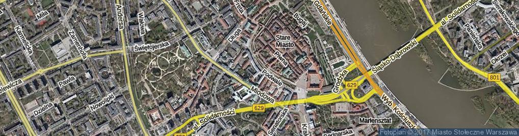 Zdjęcie satelitarne Podwale ul.