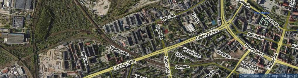 Zdjęcie satelitarne Pochyła