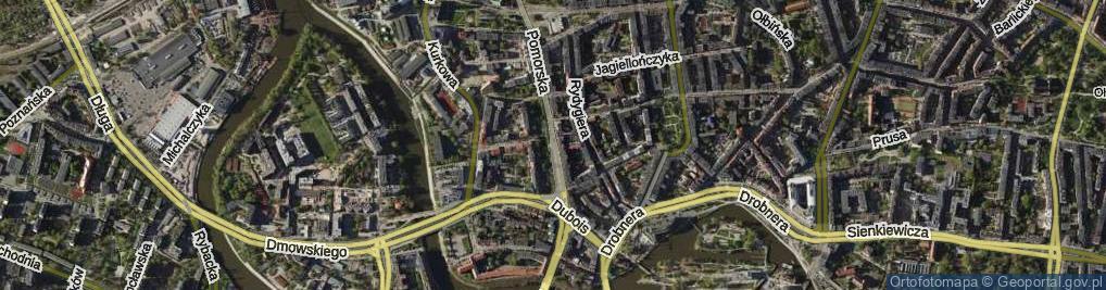 Zdjęcie satelitarne Pomorska