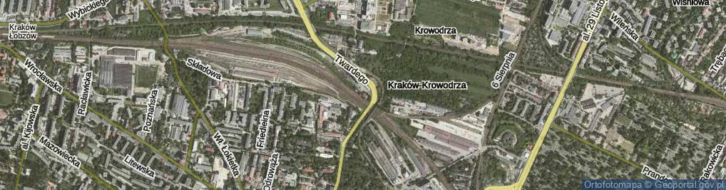 Zdjęcie satelitarne Prądnicka ul.