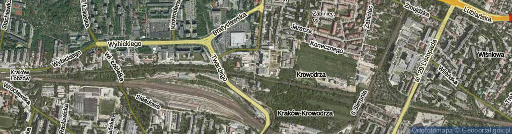 Zdjęcie satelitarne Prądnicka