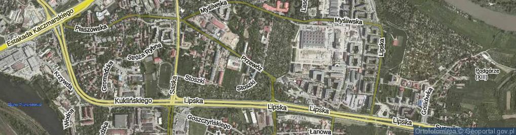 Zdjęcie satelitarne Przewóz